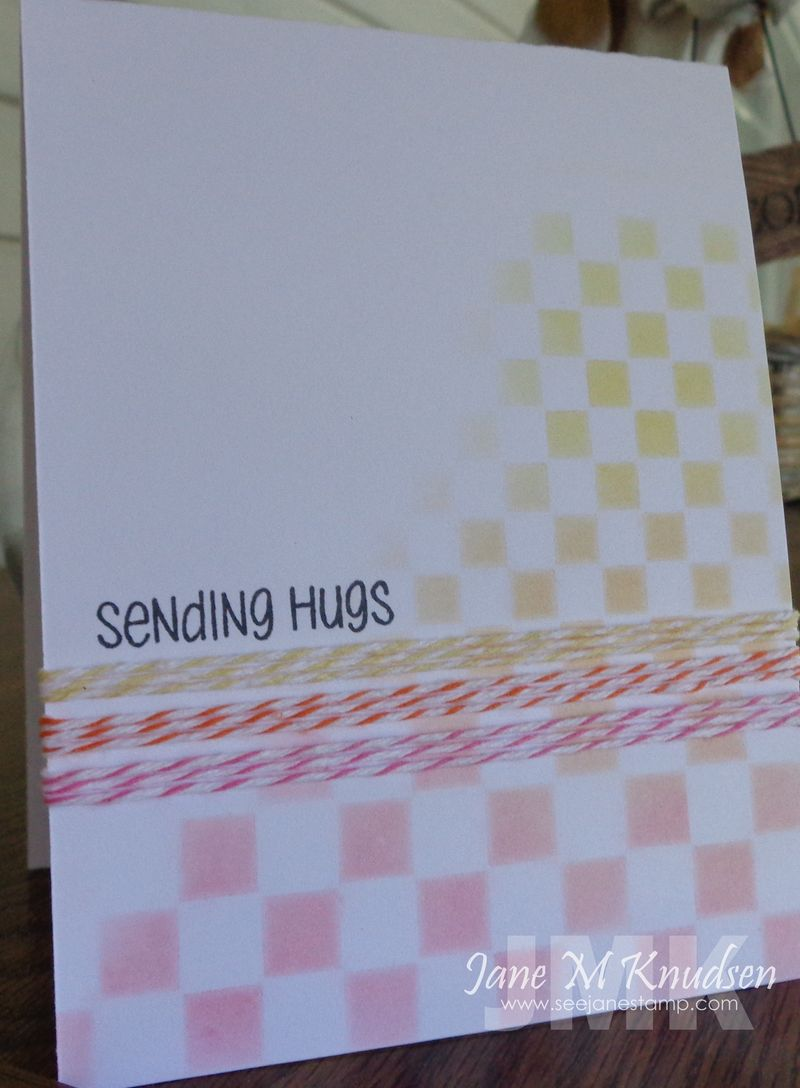 Seejanestamp.com sending hugs checkerboard